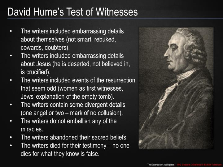 David Hume's Test of Witnesses