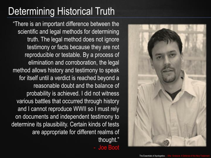 Determining Historical Truth