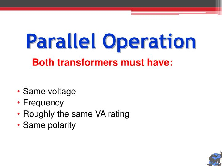 Parallel Operation