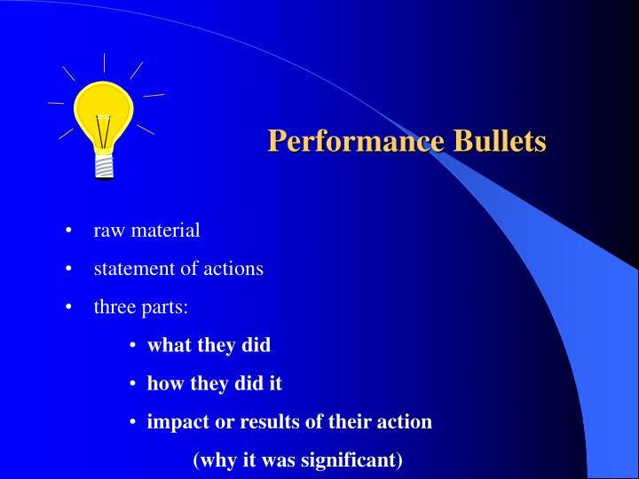 Performance Bullets