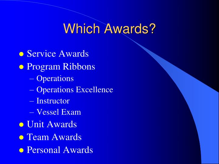 Which Awards?