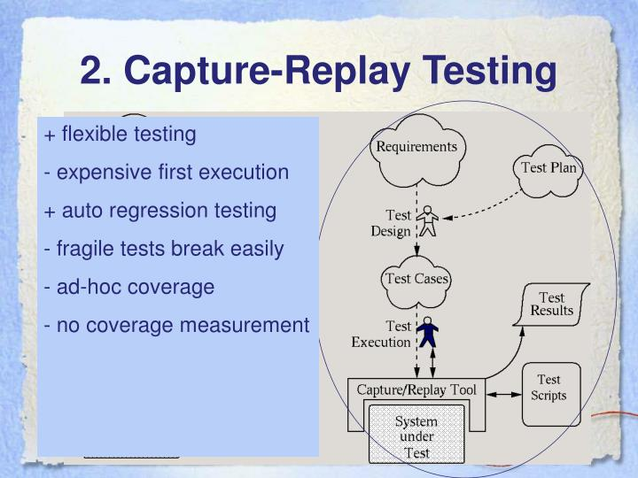 2. Capture-Replay Testing