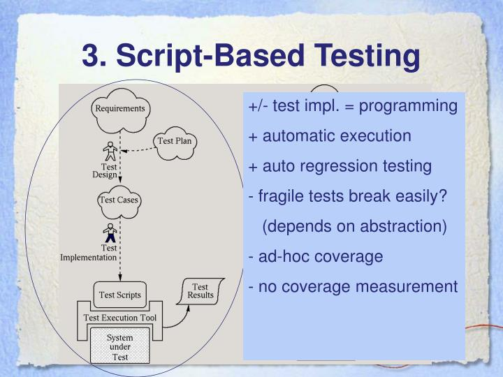 3. Script-Based Testing