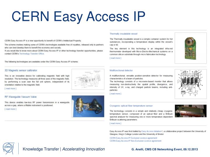 CERN Easy Access IP