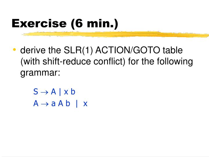 Exercise (6 min.)