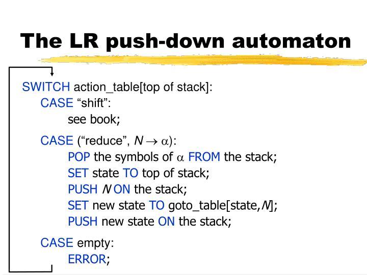 The LR push-down automaton