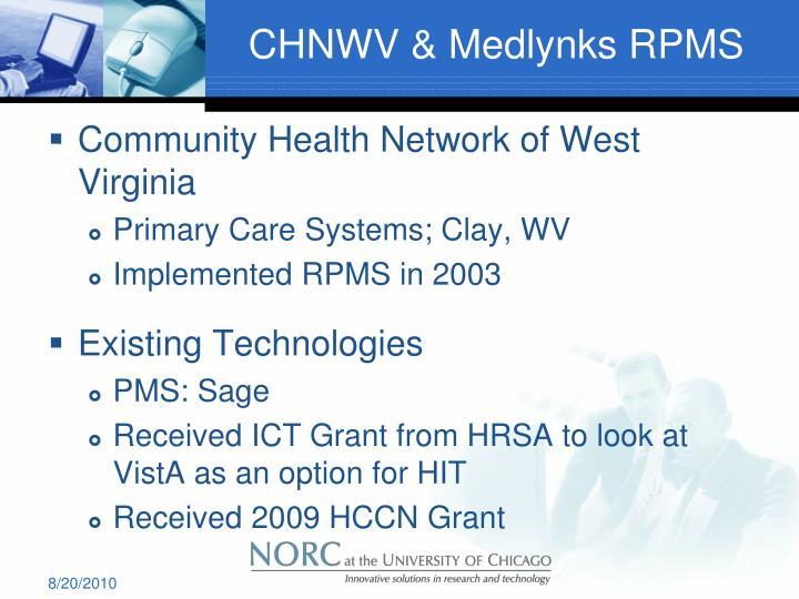 CHNWV & Medlynks RPMS
