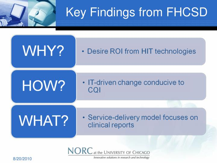 Key Findings from FHCSD
