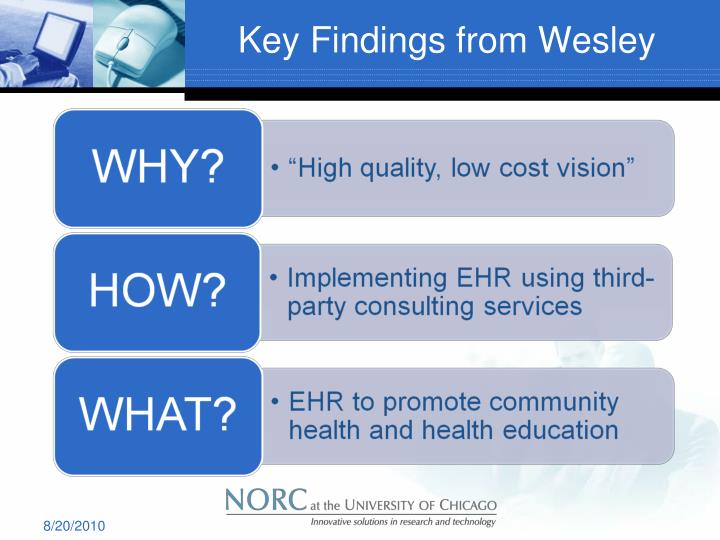 Key Findings from Wesley