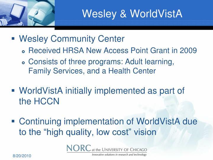 Wesley & WorldVistA