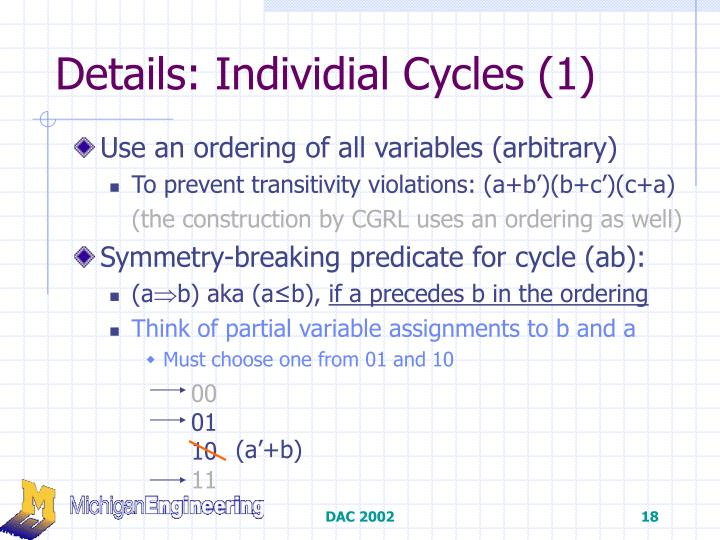 Details: Individial Cycles (1)