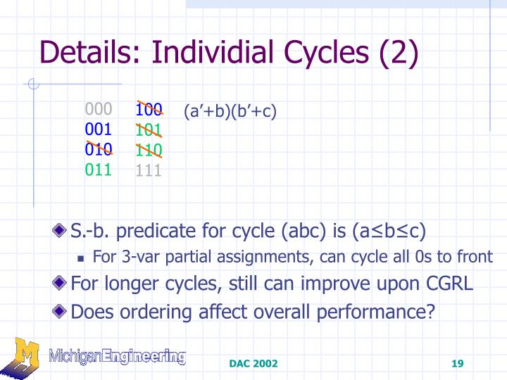 Details: Individial Cycles (2)