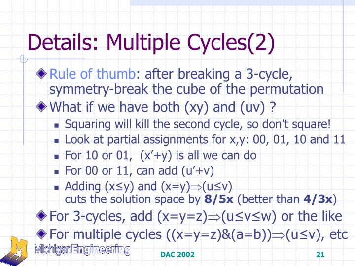 Details: Multiple Cycles(2)