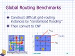 global routing benchmarks