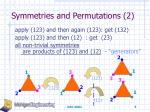 symmetries and permutations 2