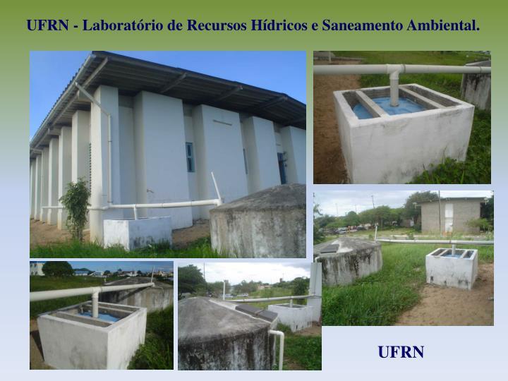 UFRN - Laboratrio de Recursos Hdricos e Saneamento Ambiental.