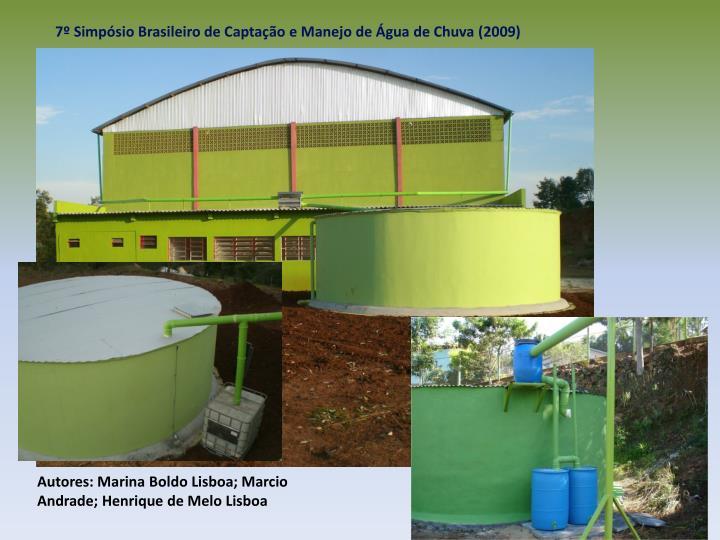 7 Simpsio Brasileiro de Captao e Manejo de gua de Chuva (2009)