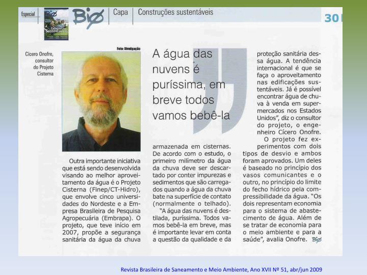 Revista Brasileira de Saneamento e Meio Ambiente, Ano XVII Nº 51, abr/jun 2009