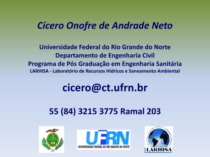 Cícero Onofre de Andrade Neto