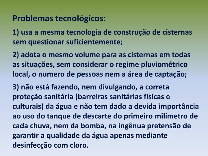 Problemas tecnolgicos: