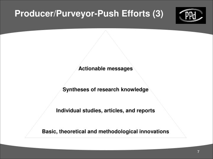 Producer/Purveyor-Push Efforts (3)