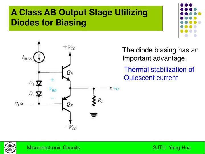 A Class AB Output Stage Utilizing Diodes for Biasing