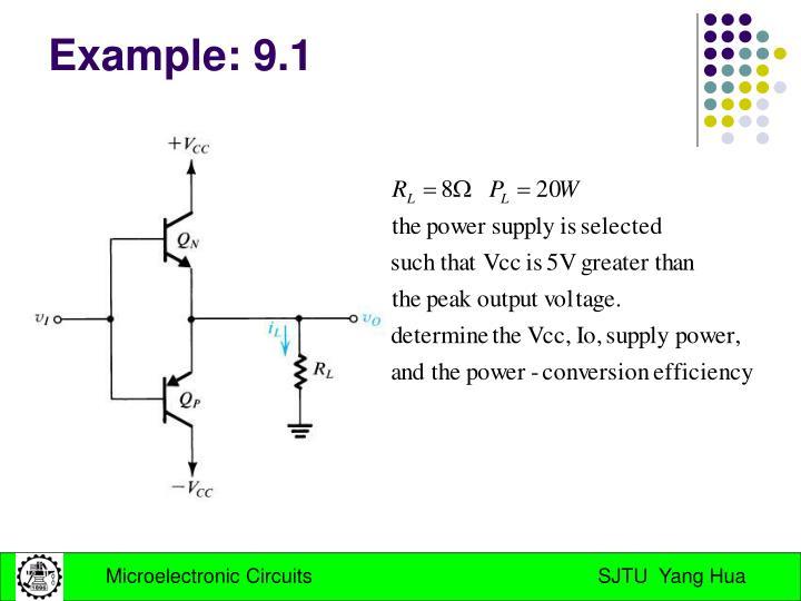 Example: 9.1