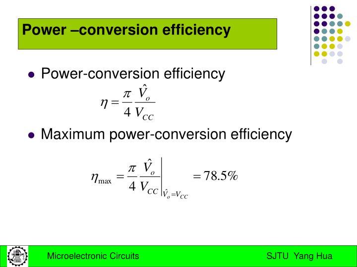 Power-conversion efficiency