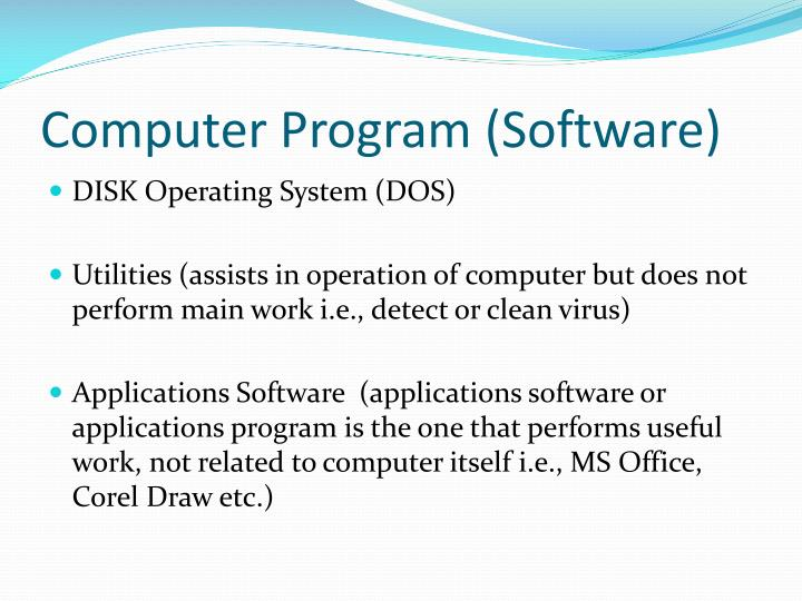 Computer Program (Software)