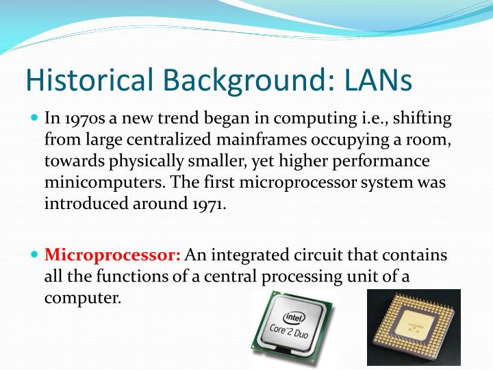 Historical background lans