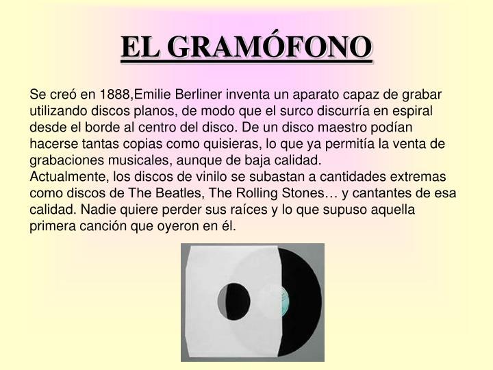 EL GRAMÓFONO