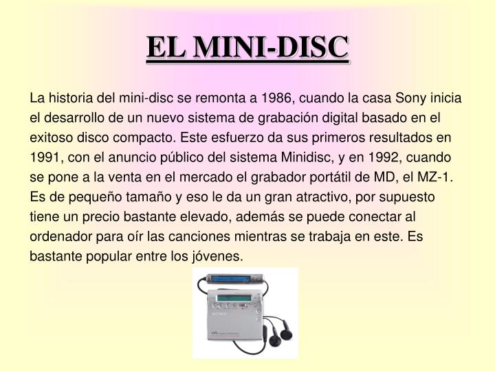 EL MINI-DISC