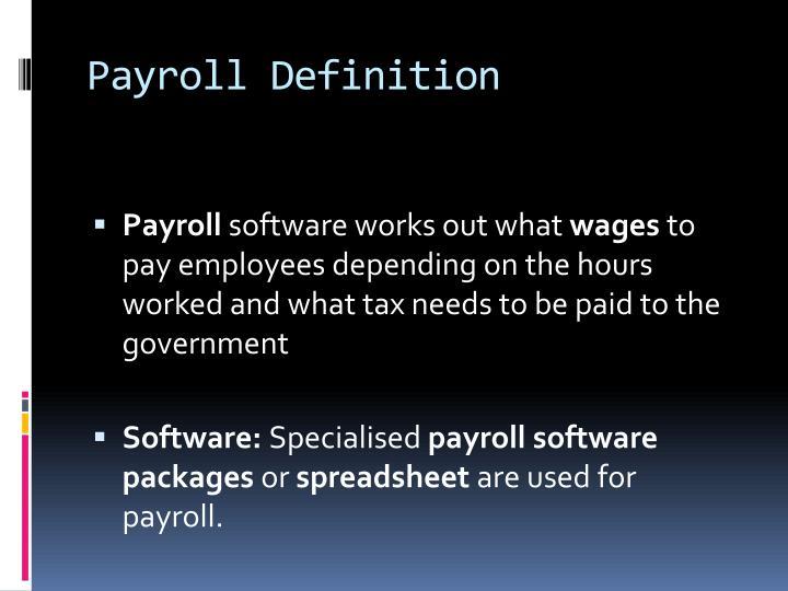 Payroll Definition