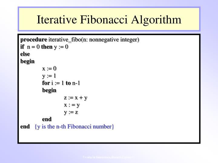 Iterative Fibonacci Algorithm