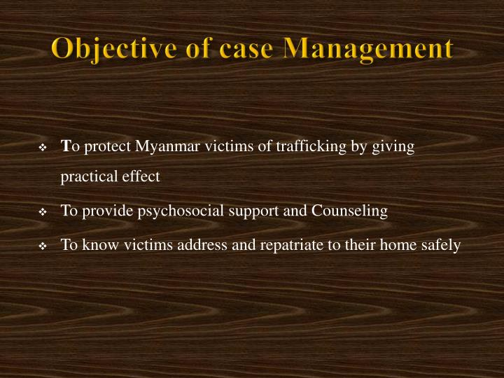 Objective of case management