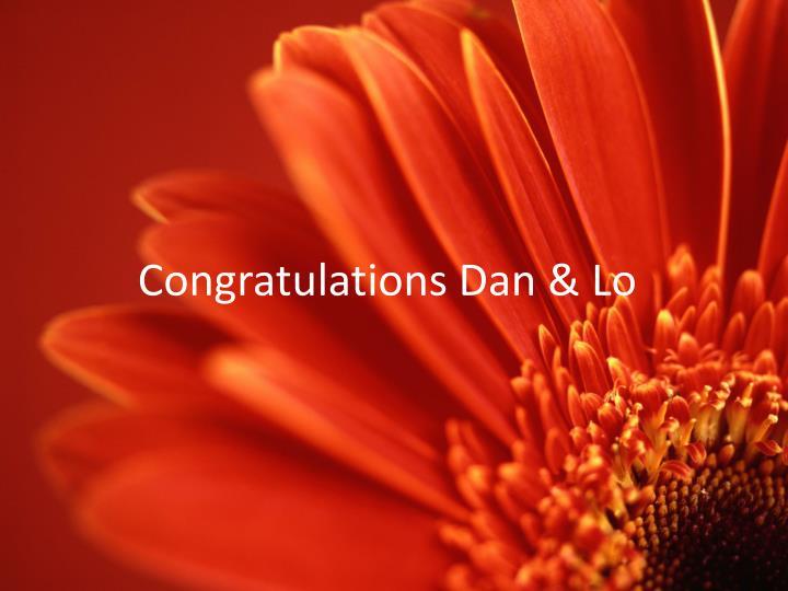 Congratulations Dan & Lo