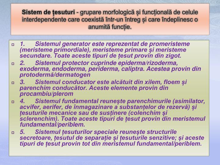 Sistem de țesuturi