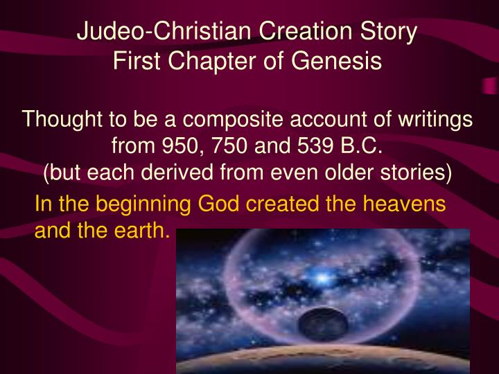 Judeo-Christian Creation Story