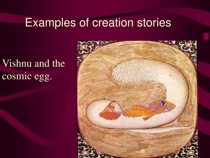 Examples of creation stories