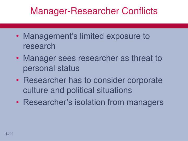 Manager-Researcher Conflicts
