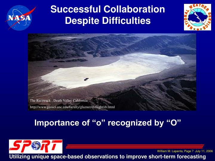 Successful Collaboration