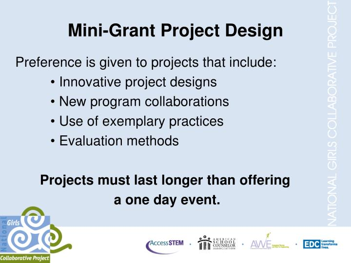 Mini-Grant Project Design