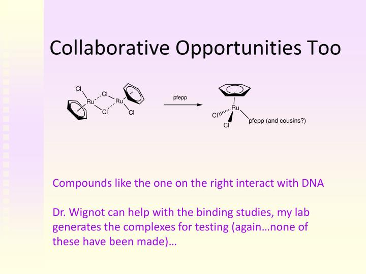 Collaborative Opportunities Too