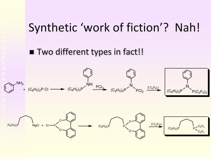 Synthetic 'work of fiction'?  Nah!