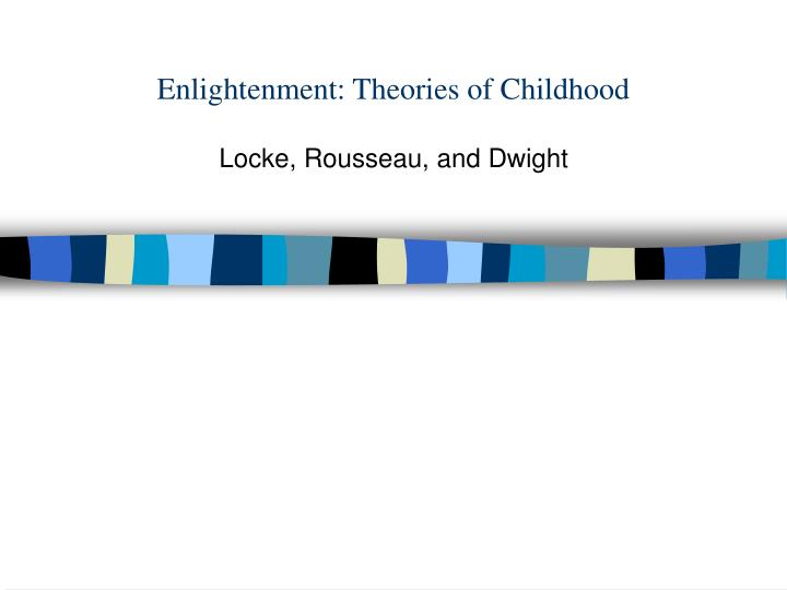 Enlightenment theories of childhood