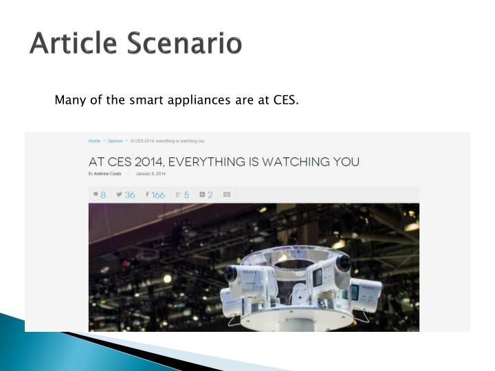 Article Scenario