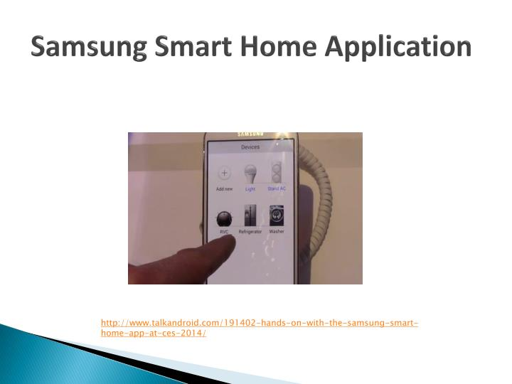 Samsung Smart Home Application
