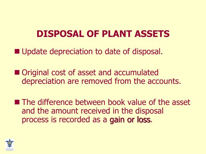 DISPOSAL OF PLANT ASSETS