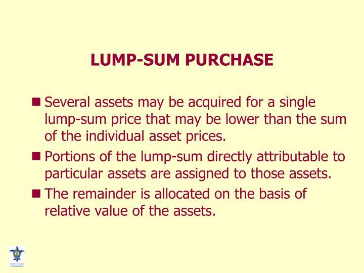 LUMP-SUM PURCHASE