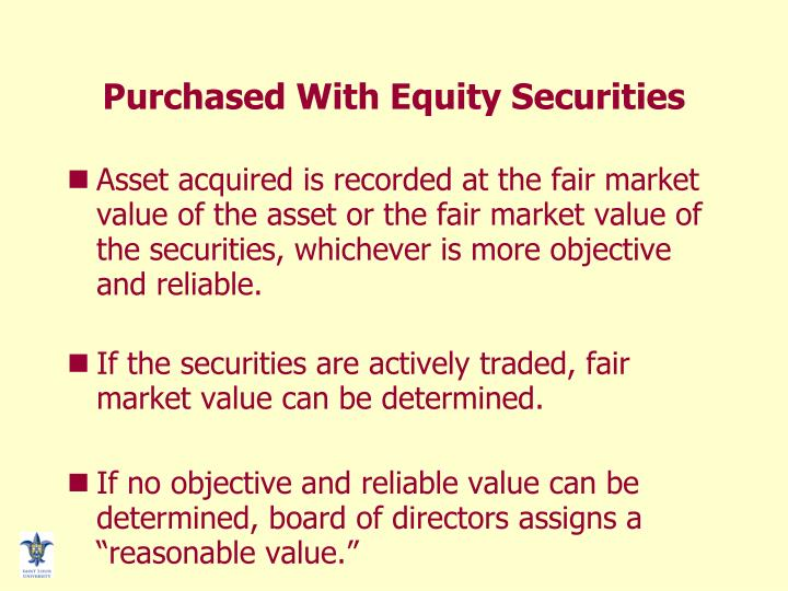 Purchased With Equity Securities